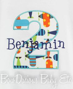 Boys First Birthday Shirt, Monogrammed, Number, Custom Fabrics, Girls or Boys, Shirt, Tank, Onesie, Romper on Etsy, $18.00