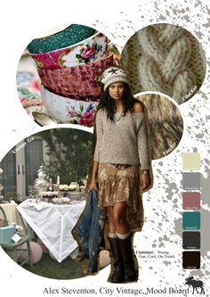 Abercrombie and Fitch inspired customer profile and mood board