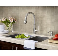 Pfister Wheaton Single Handle Pull Down Sprayer Kitchen Faucet With Soap  Dispenser In Stainless   The Home Depot