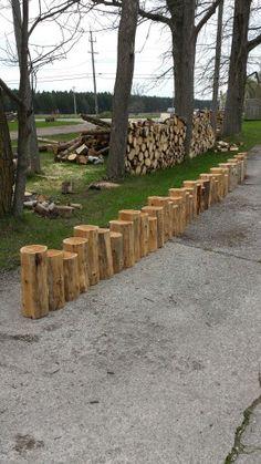 1000 images about cedar logs on pinterest logs hall for Log garden edging