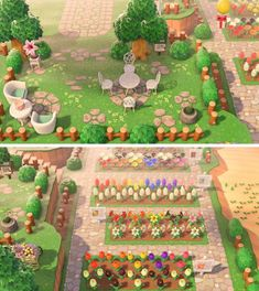 Flower garden next to the museum : AnimalCrossing