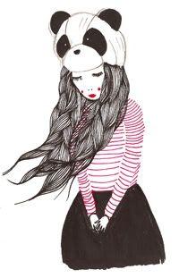 Panda Hat #panda #girl #hat