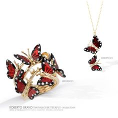 Oh, my! Unique and inspiring pieces of art and jewellery. #monarchbutterfly #collection #robertobravo