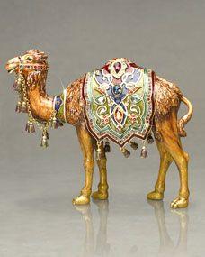 "Jay Strongwater ""Abadie"" Camel Figure Chicken Wire Sculpture, Bird Sculpture, Animal Sculptures, Camel Craft, Baby Ganesha, Gold Home Accessories, Tiger Art, Madhubani Painting, Jewellery Sketches"
