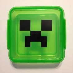 Minecraft Creeper sandwich lunch box container party favor (I can make this)