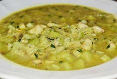 Supa cu peste si dovlecel - Supa consistenta cu peste alb (salau sau somon), cu dovlecel si orez usor de facut. Are numai 28 de calorii pe portie