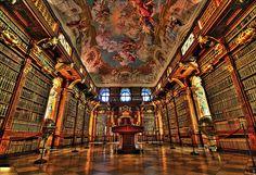 Melk Abbey Library in Melk, Austria