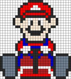 Mario Mario Kart Perler bead pattern