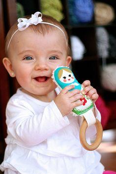 matryoshka doll teether toy