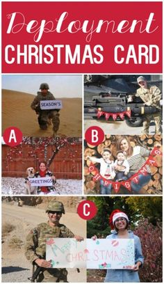 Deployed Christmas Card - LOVE this idea for deployment families Deployment Gifts, Deployment Care Packages, Military Deployment, Military Spouse, Military Life, Military Families, Deployment Countdown, Army Family, Military Veterans
