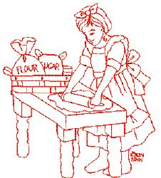 Embroidery Template Idea - Red Work Baking