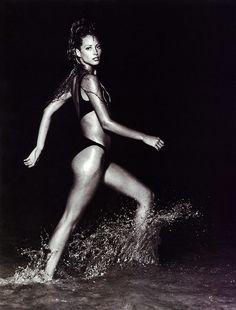 Christy Turlington shot by Patrick Demarchelier for US Harper's Bazaar November 1992.