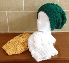 Slouchy Beanie  Slouchy Hat  Cabled  Crochet  by SkeinsOfAnarchy