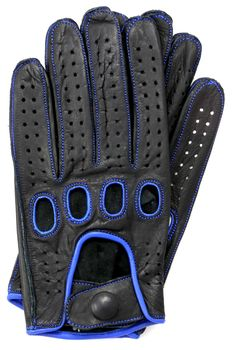 Handmade Women/'s Driving Leather Gloves Black with red stitching
