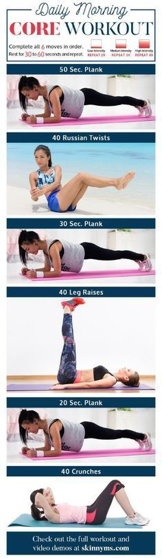 Daily Morning Core Workout Routine With Video Tutorials – Toned