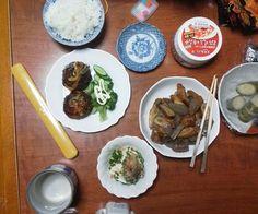 豆腐バーグ 冷奴 コンニャクと竹輪 キムチ