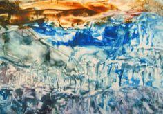 Encaustic auf Papier, 60x42 cm, ohne Rahmen Painting, Art, Paper, Frame, Abstract, Painting Art, Paintings, Kunst, Paint