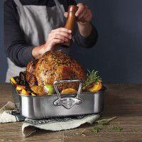 Sur La Table® Hard-Anodized Roasting Pan with Nonstick Rack and Bonus Lifters   Sur La Table
