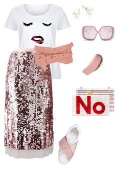 """""""Untitled #246"""" by stylistrr on Polyvore featuring LC Trendz, Tory Burch, Isabel Marant, Kurt Geiger, Majorica, Karen Walker, Burberry, Nathalie Trad, Edie Parker and plus size clothing"""