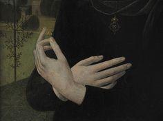 Portrait of a Young Woman Lorenzo di Credi (Lorenzo d'Andrea d'Oderigo) (Italian, Florentine, 1456/59–1536), detail.