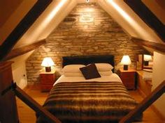 Attic made into a bedroom