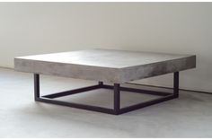 Concrete table KENDO is a concrete coffee table with black metal legs. Kendo, Kitchen Room Design, Diy Kitchen, Diy Sofa Table, Concrete Coffee Table, Next At Home, Diy Design, Living Room, Furniture