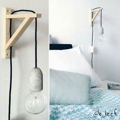 Hoe gaaf is dit DIY nachtlampje? @b_leef maakte deze zelf met een betonnen fitting van Xenos (ook bij Action verkrijgbaar) en een wandsteun van Ikea. Kijk snel op haar blog (http://ift.tt/1TASitx) om te zien hoe je dit lampje zelf in elkaar zet. Bedankt dat ik je mooie foto mocht delen!