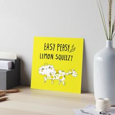"""""""Easy Peasy Lemon Squeezy Cat"""" Art Board Print by GabiToma 