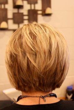 OK neckline - dont' love straight edge, but like the choppines of it. A-Line Bob Haircut