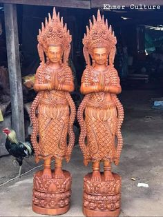 Wood Design, Cambodia, Handicraft, Buddha, Statue, Art, Craft, Art Background, Arts And Crafts