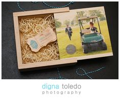 Introducing our Wedding Packaging Custom Wood USB Drive & Box www.dignatoledo.com