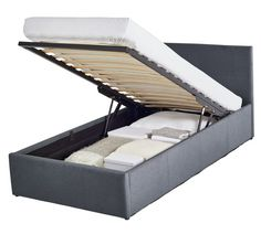 Best Details About Side Lift Up 3Ft Ottoman Bed Single Faux 400 x 300