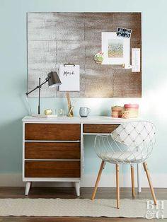 desk, board, chair