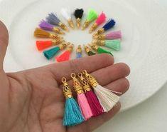 Gold Filigree Small Silk Tassels Handmade Jewelry Tassels