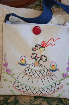 Bernideen's Tea Time, Cottage and Garden: SEWING AWAY WITH VINTAGE LINENS