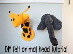 DIY nursery art series: felt giraffe + elephant head tutorial | BabyCenter Blog