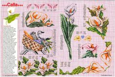 Gallery.ru / Фото #3 - Encyclopedie du point de croix ( Fleurs arbres et feuilles ) - tymannost Cross Stitch Flowers, Le Point, Pattern Books, Needlepoint, Diy Crafts, Crafty, Embroidery, Sewing, Ideas