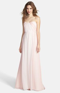 Jim Hjelm Occasions Two-Tone Pleat Chiffon Gown available at #Nordstrom