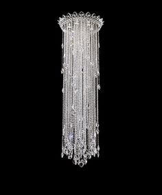Schonbek chantant 24 wide large crystal pendant light crystal striking and elegant this pendant light is full of contemporary inspired style heritage crystal strands descend from a stainless steel finish canopy aloadofball Choice Image