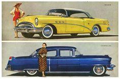 1954 stylish cars, the family sedan.