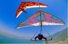 #Adventuresports #parachute #rope #fun #enjoy #water #sky #mountain