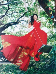 Jessica Mauboy wearing the Spring/Summer 12/13 Romana Gown for The Australian Women's Weekly December Issue...