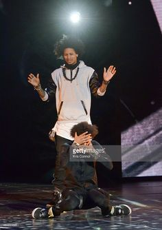 Larry Bourgeois and Laurent Bourgeois of Les Twins perform during YouTube On Stage Live from the Kennedy Center at The John F. Kennedy Center for Performing Arts on May 28, 2014 in Washington, DC.
