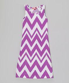 Another great find on #zulily! Purple Rain Zigzag Maxi Dress - Girls by Chillipop #zulilyfinds