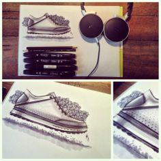 #sketch #bug #nike #nomadicsketching #roshan #hakkim #happydays #marker #shoe #footwear #design #designlife #idsketching
