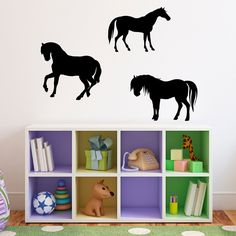 Horses Wall Decal - Set of 3 - Horse
