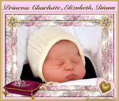 Beautiful Princess Charlotte, Elizabeth, Diana
