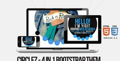 CircleZ - 4in1 Bootstrap Theme - Creative Site Templates more on http://html5themes.org