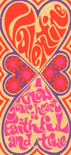 ☯☮ॐ American Hippie Bohemian Psychedelic Art ~ 1960s valentine