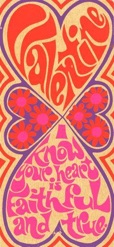 ☯☮ॐ American Hippie Bohemian Psychedelic Art ~ 1960s valentine